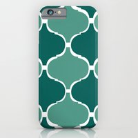 iPhone & iPod Case featuring Marrakech Pattern Dark Green by Stickycake Studio