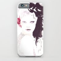 iPhone & iPod Case featuring Fashion illustration in watercolors by Ioana Avram
