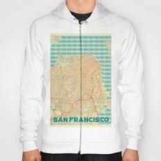 San Francisco Map Retro Hoody