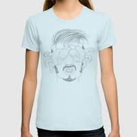 I'm Grabbing Your Eyes B… Womens Fitted Tee Light Blue SMALL