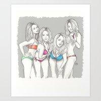 Spring Breakers Art Print