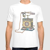 waiting for your call since 1896 Mens Fitted Tee White SMALL