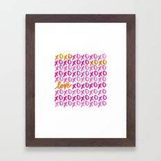 XOXO Framed Art Print