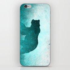 Teal Ghost Bear iPhone & iPod Skin