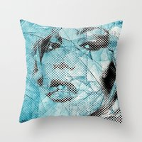 Pieces Of Glass Throw Pillow