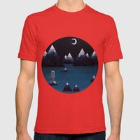 So Quiet Mens Fitted Tee Red SMALL