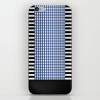 Black And Blue iPhone & iPod Skin