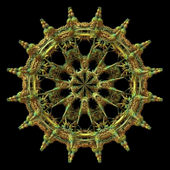 Ship's Wheel (3D Fractal) Art Print
