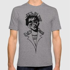 It's In the Eyes Chico Mens Fitted Tee Athletic Grey SMALL