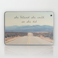 She Believed She Could S… Laptop & iPad Skin