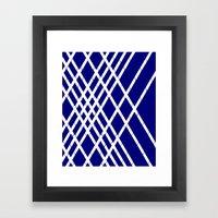 JUST LOVELY- Navy Framed Art Print