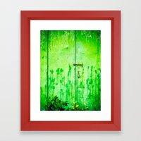 Weathered Iron Door Framed Art Print