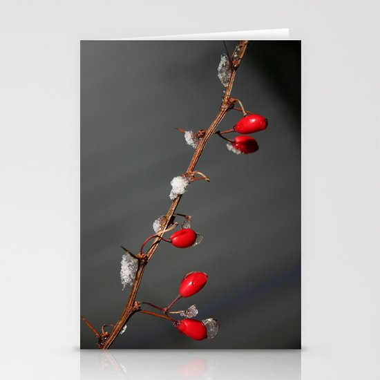 Ruby Red, Christmas, Winter Stationery Card