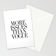 MORE ISSUES 2 Stationery Cards