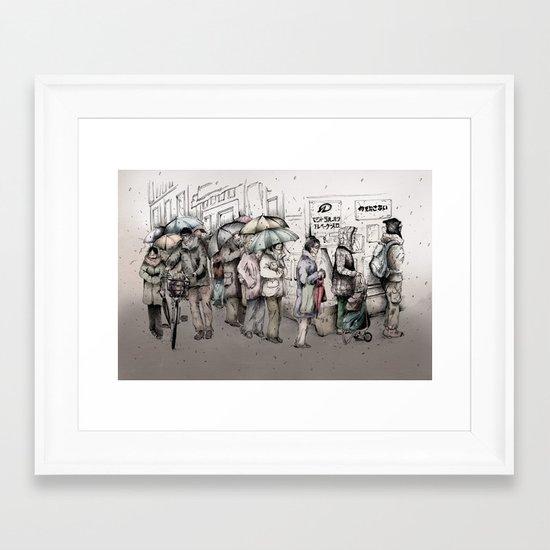Queue Framed Art Print