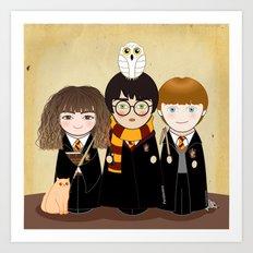 Kokeshis Hermi, Harry and Ron Art Print