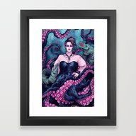 Framed Art Print featuring Ursula by Angela Rizza