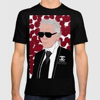 Karl Lagerfeld Mens Fitted Tee Black SMALL