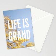 life is grand. Stationery Cards