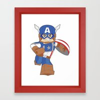 Lego Captain Framed Art Print