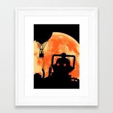 Cyber King Horror Poster Framed Art Print