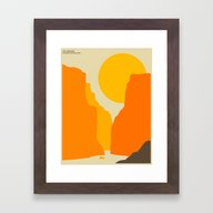 Framed Art Print featuring BIG BEND NATIONAL PARK by Jazzberry Blue
