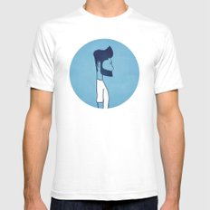 Self Portrait White SMALL Mens Fitted Tee