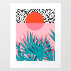 Whoa - Palm Sunrise Sout… Art Print