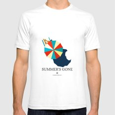 Summer's gone White Mens Fitted Tee SMALL