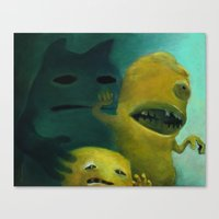 Ghost Bunny & Bros Canvas Print