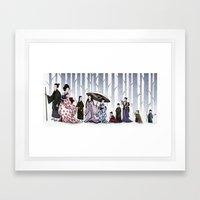 Family Stroll Framed Art Print