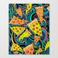 Pizza Meditation Canvas Print