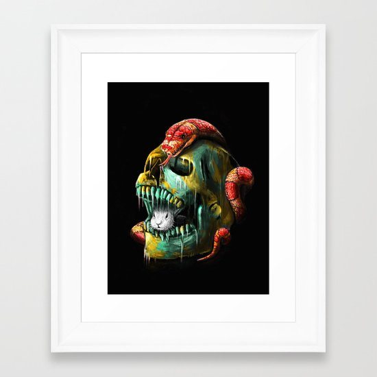 Fear and Desire Framed Art Print