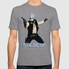 SoloCop Mens Fitted Tee Tri-Grey SMALL