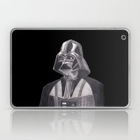 Darth Vader [Grayscale on Black] Pencil Laptop & iPad Skin