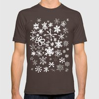 Snowflake Pond Mens Fitted Tee Brown SMALL