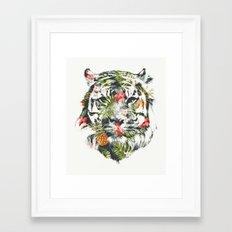 Tropical tiger Framed Art Print
