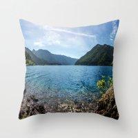 Lake Crescent Olympic Mo… Throw Pillow