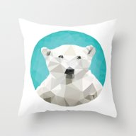 ♥ SAVE THE POLAR BEARS… Throw Pillow