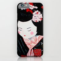 iPhone & iPod Case featuring Geisha by Maripili