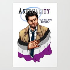 Fandom Pride : Asexualit… Art Print