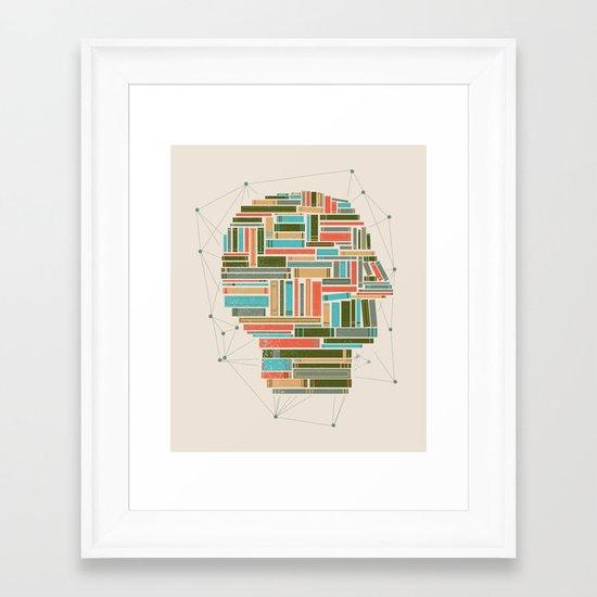 Socially Networked. Framed Art Print