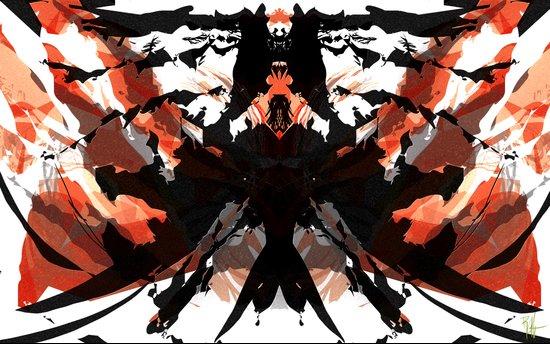 Rorschach Samurai Art Print