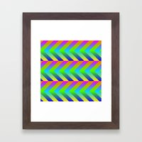 Colorful Gradients Framed Art Print