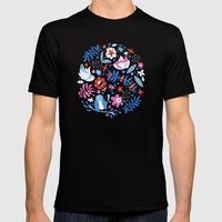Little Birds Mens Fitted Tee Black SMALL