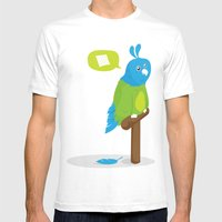 Depressed Parrot Mens Fitted Tee White SMALL