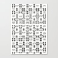 Dots & triangles Canvas Print