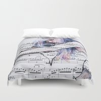 Waiting Place on sheet music Duvet Cover