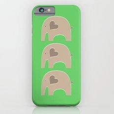Green Safari Elephant 2 Slim Case iPhone 6s