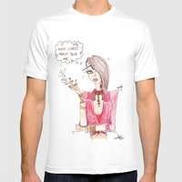 metrosexual Mens Fitted Tee White SMALL